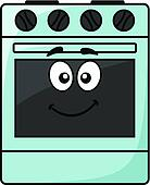 Fun kitchen appliance - a happy oven