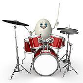 Happy Egg with drum stick
