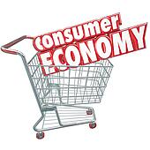 Consumer Economy Shopping Cart Buying Goods Customer Orders