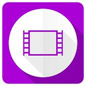 movie pink flat icon