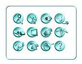 Medical & Pharmacy Icon Set - Light 2Medical & Pharmacy Icon Set - Light 2