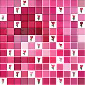 seamless pink texture pixel tulips.