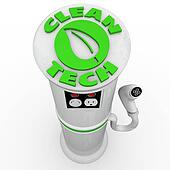 Clean Tech EV Electric Vehicle Car Charging Station Power Plug