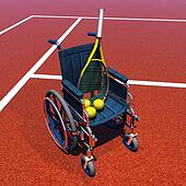 Tennis for handicapped - 3D render