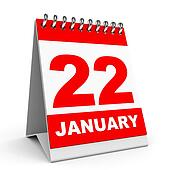 Calendar. 22 January.