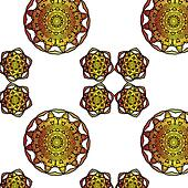 Lace  floral ethnic ornament seamless pattern