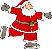 Santa skates