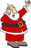 Santa on phone