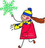 snowflake kid