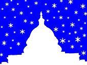 capitol building Washington DC in winter