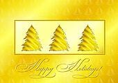 Golden Christmas Trees
