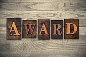 Award Wooden Letterpress Concept