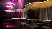 karaoke nightclub spotlight gold