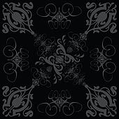 flower tile gothic 3 black