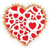 heart shape flame