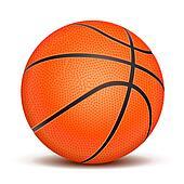 Realistic basketball ball