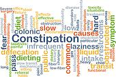 Constipation background concept