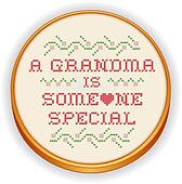 Embroidery, Grandma Cross Stitch