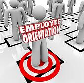 Employee Orientation Words New Worker Organization Chart