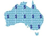 Australian map and currency