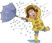 Upturned Umbrella Girl
