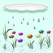 spring rain illustra