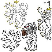 Heraldic Lions 1