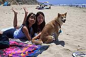Girls & Dog at Beach