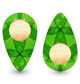 Eco friendly wooden icon for web design