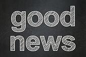 News concept: Good News on chalkboard background