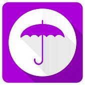 umbrella pink flat icon protection sign