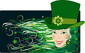 Leprechaun lady on Patrick Day