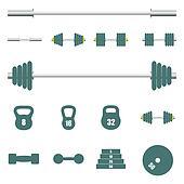 Icons sports equipment