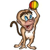 Monkey and ball