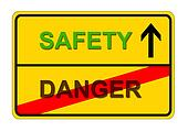 from danger to safety shows traffic-sign