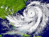 Hurricane over Florida and Cuba