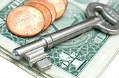 Key and money