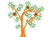 green tree handprint