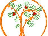 a green tree .logo