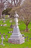 1800s Graves And Monument To Confederate Soldiers Kentucky USA