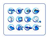 Medical & Pharmacy Icon Set, Blue