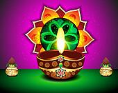 Diwali Festival Background with kalash