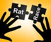 Rat Race Means Lifestyle Worked And Drudgery