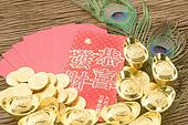 Chinese new year festival decorations, ang pow or red packet and