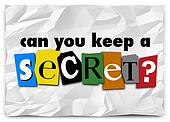 Can You Keep a Secret Words Ransom Note Private Message