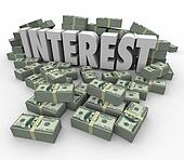 Interest Financial Income Earnings Money Stacks Credit Debt Fees