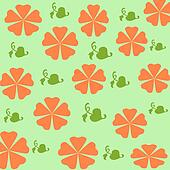 orange flowers wrap