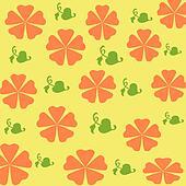 orange flowers wrap