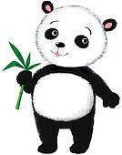 Peaceful funny panda