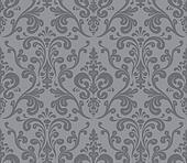Vector. Seamless elegant damask pattern. Grey